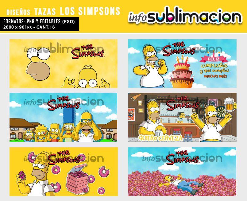 diseños para tazas de los simpsons