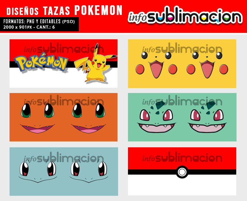 diseños tazas de pokemon