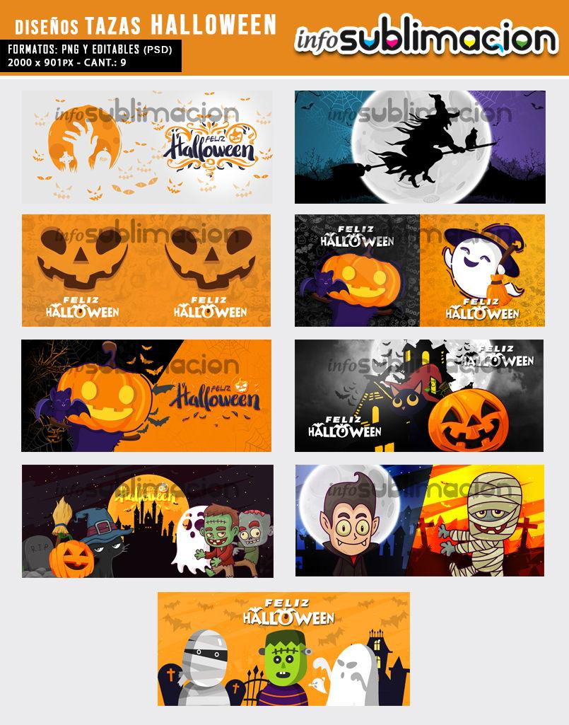 diseños para sublimar de halloween