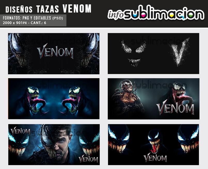 diseños para sublimar tazas de venom