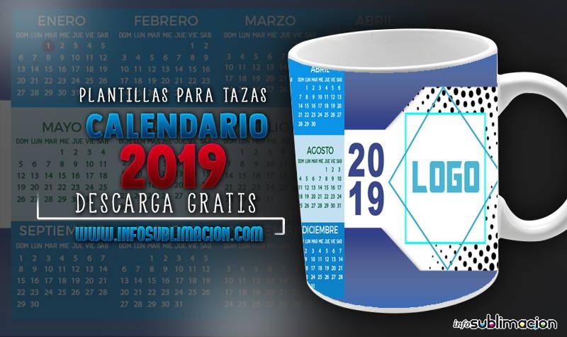 plantillas para sublimar tazas calendario 2019 empresarial