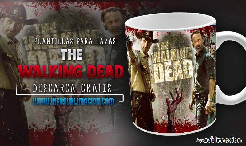 plantillas para sublimar tazas de the walking dead
