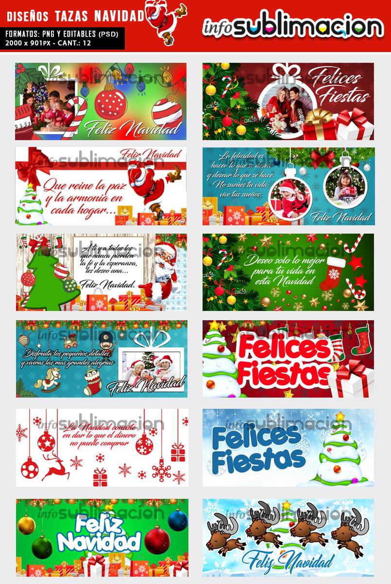 diseños tazas de navidad