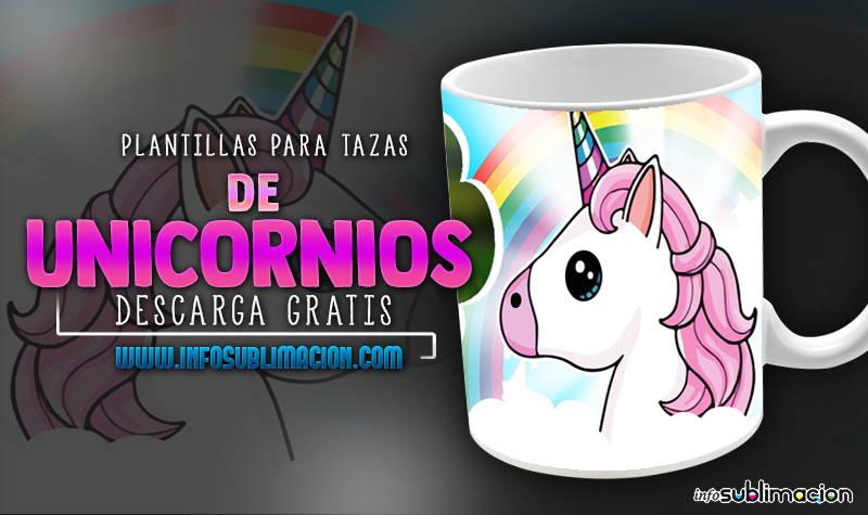 plantillas para sublimar tazas de unicornios