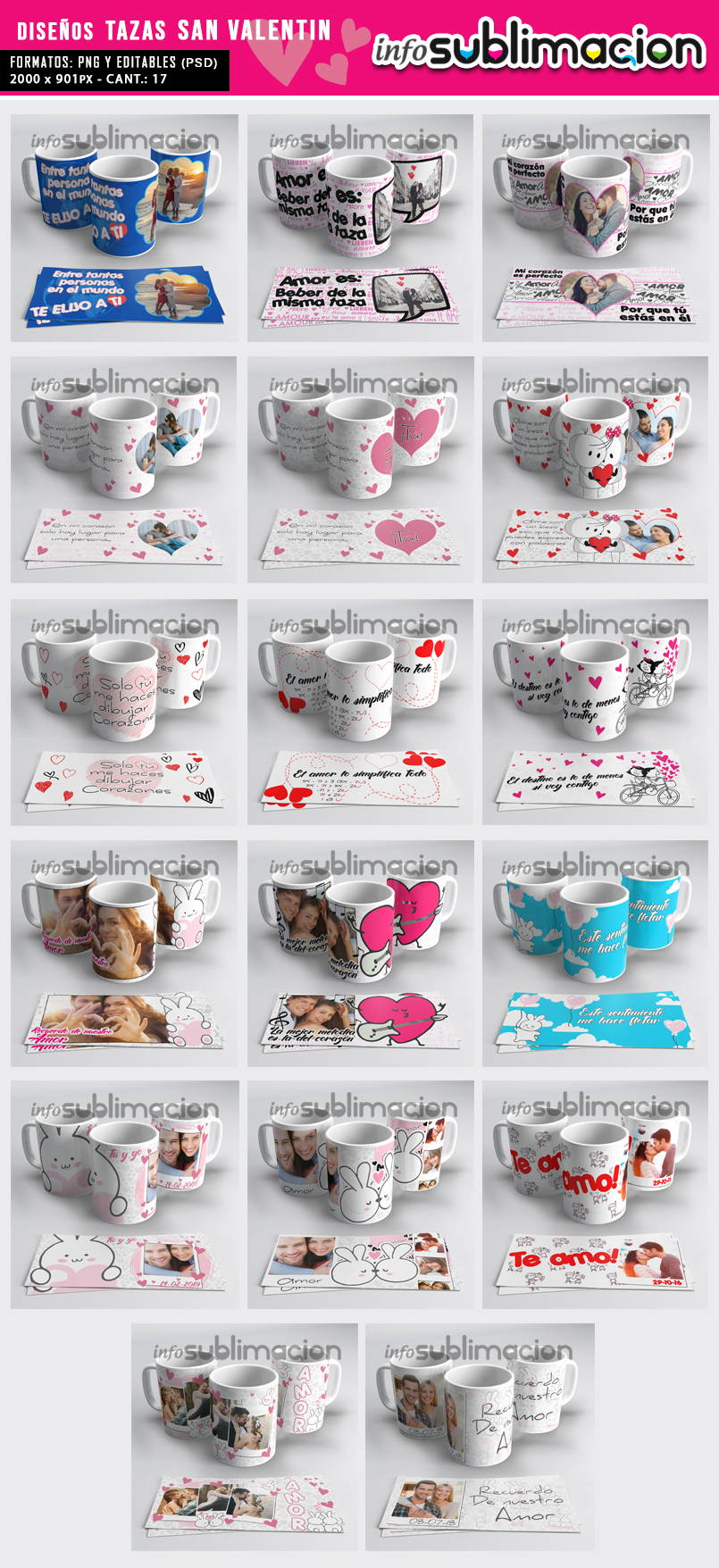 mock up tazas san valentin