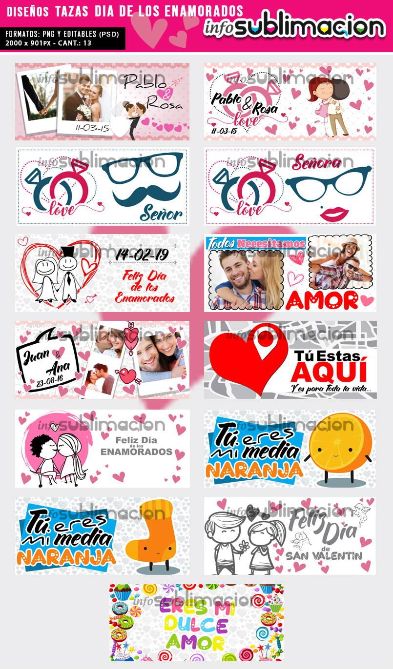 diseños tazas dia de los enamorados