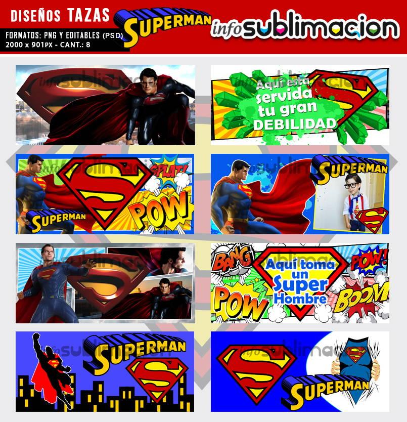 diseños tazas superman