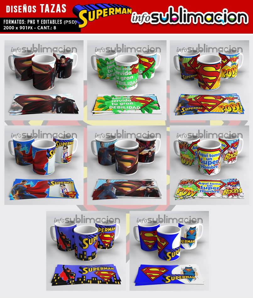 muestrario plantillas para tazas superman