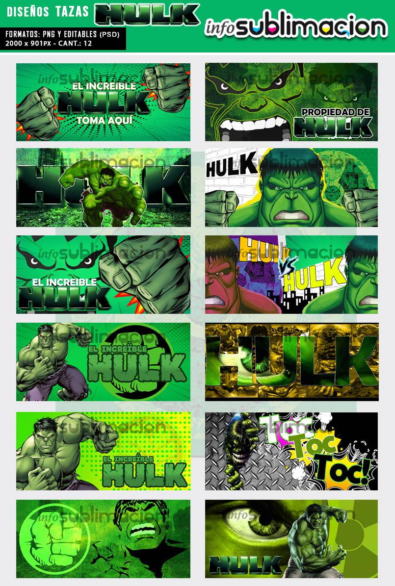 diseños tazas hulk