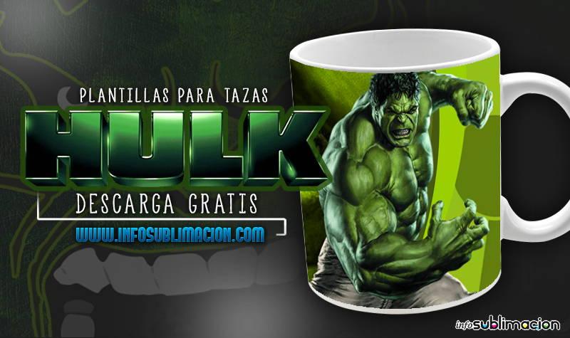 plantillas para sublimar tazas de hulk