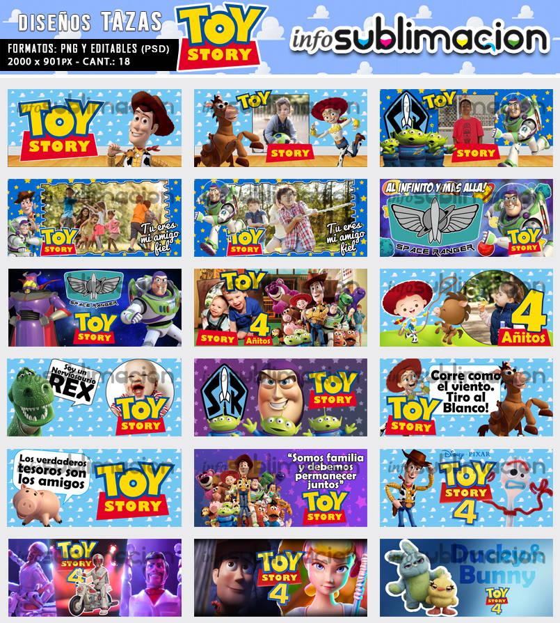 diseños tazas toy story