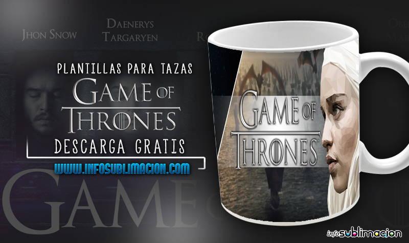 plantillas para sublimar tazas de games of thrones