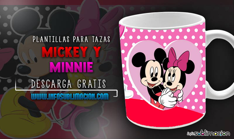 plantillas para sublimar tazas de mickey y minnie