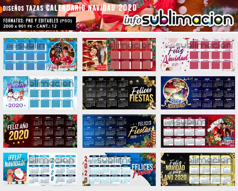 diseños tazas navidad calendario 2020