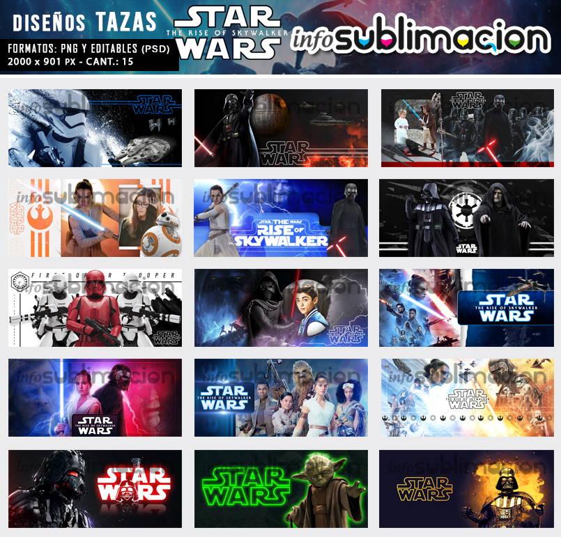 diseños para tazas de star wars el ascenso de skywalker