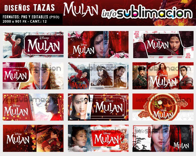 diseños para tazas de mulan
