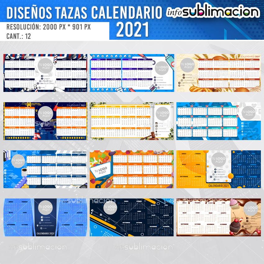 diseños para tazas calendario corporativo 2021