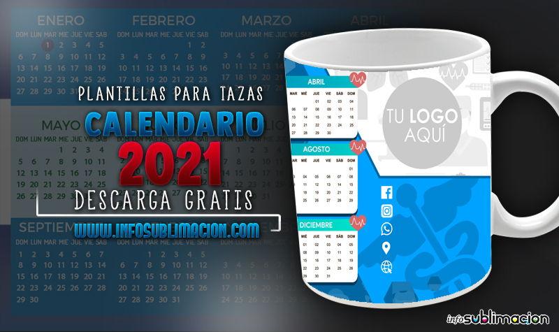 plantillas para tazas calendario empresarial 2021